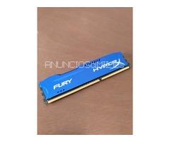 Modulo de 4GB memoria RAM Kingston HyperX Fury Blue DDR3 1600 PC3-12800 CL10
