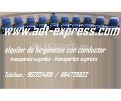 Alquiler furgonetas con conductor : transportes mudanzas