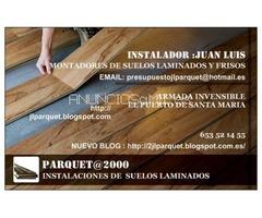 instalador  de suelos laminados tarimas flotantes y frisos