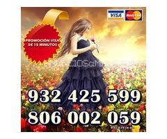 Oferta Consulta por visa 5€ 15 minutos. Tarot 806 barato