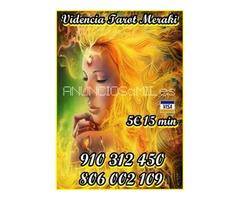 Videncia Pura y Tarot telefónico visa las 24 horas 5 € 15 min. 9€ 30min. 910 312 450