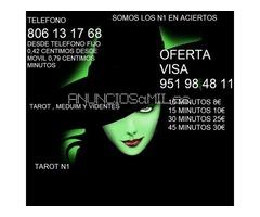 TAROT REAL 806 13 17 68  desde fijo 0,42 m0vil 0,79 Y OFERTA VISA 951 98 48 11
